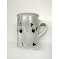 Idea regalo tazza con decorazione gatto 10 cm