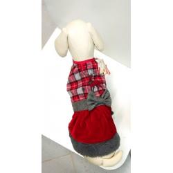 Cappottino natalizio per cani taglia 30 cm