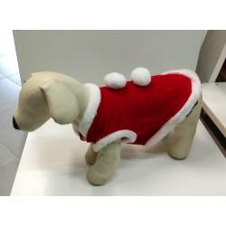 Vestito di natale per cani rosso taglia cm 30