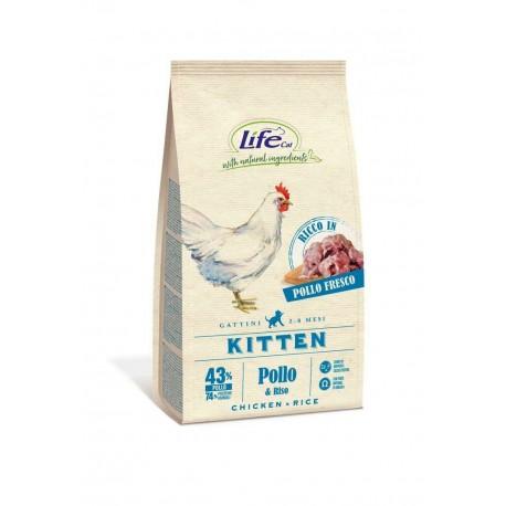 Life cat kitten croccantini al pollo per gattini da 1.5 kg