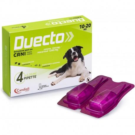 Duecto antiparassitario spot on per cani  da 10a 20 kg