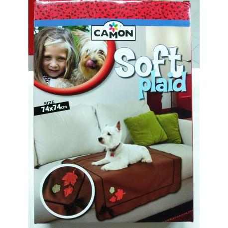 Soft plaid copertina in pile per cani e gatti 74x74 cm